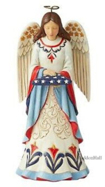 Angel Holding Folded Flag H18cm JIm Shore 6006440