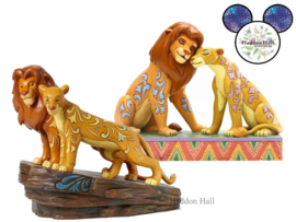 Lion King - Savannah Sweethearts & Love at Pride Rock - Set van 2 Jim Shore beelden