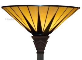 TG08  Vloerlamp Uplight H180cm met Tiffany kap Ø42cm Dark Star