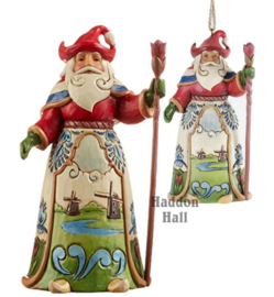 Dutch Traditions - Set van 2 Jim Shore Nederlandse Santa's