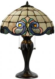 5807 Tafellamp H58cm Ø40cm Lila Rose en Blauw