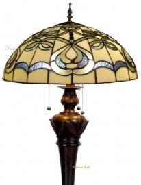 9272G 9459 Vloerlamp Tiffany Ø50cm Bolling in de voet Blueribbon