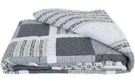 Q165 Clayre & Eef Bedsprei 140 x 220 cm Quilt Patchwork-style beddesprei