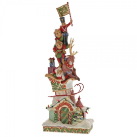Heaped With Holiday Cheer H36,5cm Lighted Stacked Santa 4060310