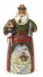 Frohe Weihnachten H18cm Jim Shore German Santa 4017646