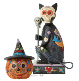 Day of the Dead Set Cat &Jack-o-Lantern - Jim Shore