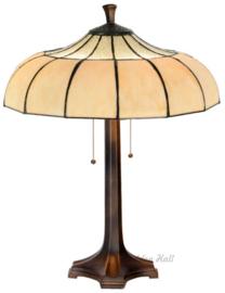 5982 5867 Tafellamp Tiffany H65cm Ø46cm Korset