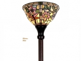 9111 Vloerlamp H175cm met Tiffany kap Ø26cm  Garden Dragonfly