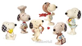 Snoopy Mini Figurines - Set van 6 - Jim Shore