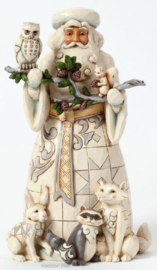 """Woodland Santa"" H25cm Jim Shore 4040900"