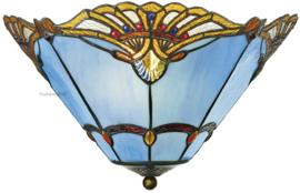 161072 Plafonniere Tiffany Ø40cm Modry