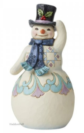 Snowman with Scarf and Top Hat H24,5cm Jim Shore 6008121