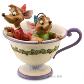 Cinderella Jaq & Gus in teacup H11,5cm Jim Shore 4016557 Disney Traditions