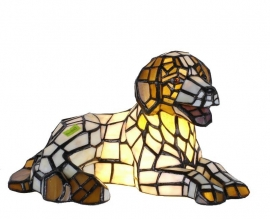 504 Tiffany lamp B31cm  Hondje of Puppy