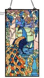 6040 Voorzetraam Tiffany 76x38cm Pauw