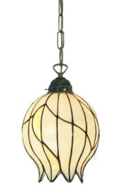 8175 Hanglamp Ketting met Tiffany kap Ø22cm Nature
