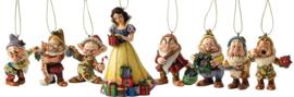 "SNOW WHITE Set van 8 Hanging Ornament ""Snow White & 7 Dwergen"" Jim SHore"