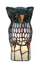 "9888 Tiffany lamp H25cm  ""Uil"""