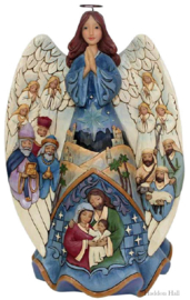 Lighted Nativity Angel Musical  H26,5cm Jim Shore 6001481 Kerstengel Kerstgroep Kerststal