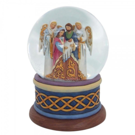 """Nativity Waterball"" H13,5cm Jim Shore 4058801 Sneeuwbal Heilige familie Kerstgroep"