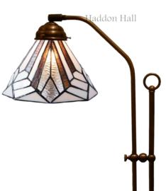 5899 Vloerlamp Haaks met Tiffany kap Ø25cm Astoria Brown