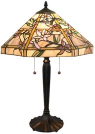 T047M Tafellamp Tiffany H60cm Ø42cm Clematis