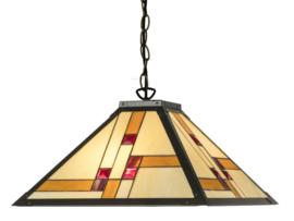 KT50 Hanglamp Tiffany 46x46cm Quadratum