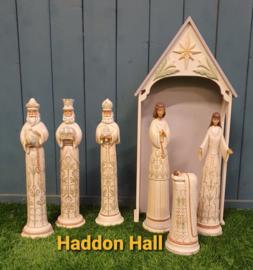 White Woodland Kerststal + Heilige Familie + 3 Koningen  Jim Shore 6004200