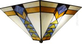 7855 Plafonniere Tiffany 37x37cm Pyramide