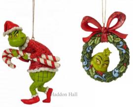 Grinch - Set van 2 Hanging Ornaments - Jim Shore