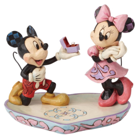 "MICKEY & MINNIE ""A Magical Moment"" H 13cm Jim Shore 4055436"