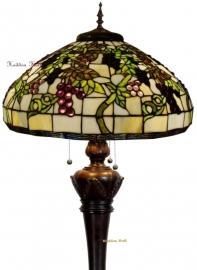 5340 9459 Vloerlamp Tiffany H170cm Ø51cm Bolling in de voet Druva