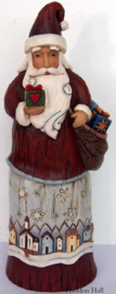"""Folklore Santa with Gift""H29cm Jim Shore 6001443"