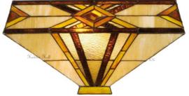 5520 80 Plafonniere Tiffany 41x41cm Emile 2xE27