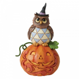 Jack-o-Lantern and Owl Mini Figurine H10,5cm Jim Shore 6006704