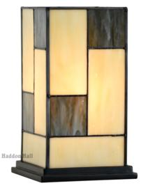 8132 Tafellamp Tiffany H23cm Mondriaan