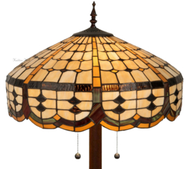 5216 9454 Vloerlamp Tiffany H165cm Ø51cm Ronde voet Cirque