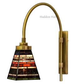 8117 2W4 Wandboog met Tiffany kap 13x13cm Industrial