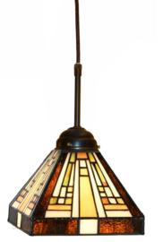 7904 Hanglamp Tiffany 18x18cm Rising Sun