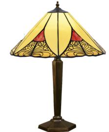 KT32 BR133M Tafellamp Brons H55cm met Tiffany kap Ø40cm Sunset