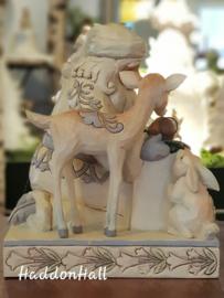 """""""Woodland Santa with Baby Jesus"""" H16,5cm Jim Shore 4053687 kerstman met kindje Jezus"""