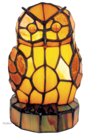 "LT16 Tiffany lamp ""Uil"" H18cm"