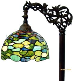 8124 9458 Vloerlamp H164cm met Tiffany kap Ø25cm Hortensia
