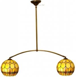 5316 973 Hanglamp met 2 Tiffany kappen Ø27cm
