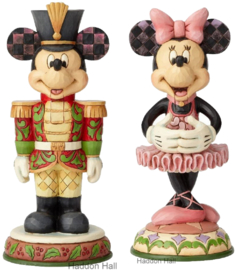 MICKEY & MINNIE Mouse Nutcracker H18cm Set van 2 Jim Shore beelden