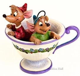 Cinderella Jaq & Gus in teacup H11,5cm Jim Shore 4016557 Disney Traditions