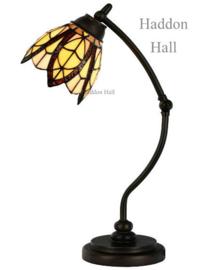8119 Bureaulamp H50cm met Tiffany kap Ø15cm Flow Souplesse