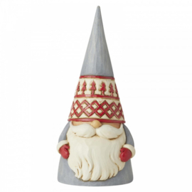 "Nordic Noel Holiday Gnome ""God Jul!"" H15cm Jim Shore 6006624"