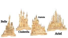Illuminted Castle - Set van 4 - Belle , Cinderella, Aurora & Ariel