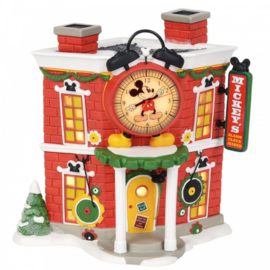 Mickey's Alarm Clock Shop H17cm Disney Village by D56 - A30082